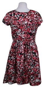 Saks Fifth Avenue Red Ave Womens Printed Above Knee Dress