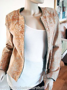 Salvatore Ferragamo Salvadore Beige Motorcycle Jacket
