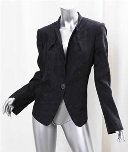 Salvatore Ferragamo Silk Cotton Spotted Black Jacket