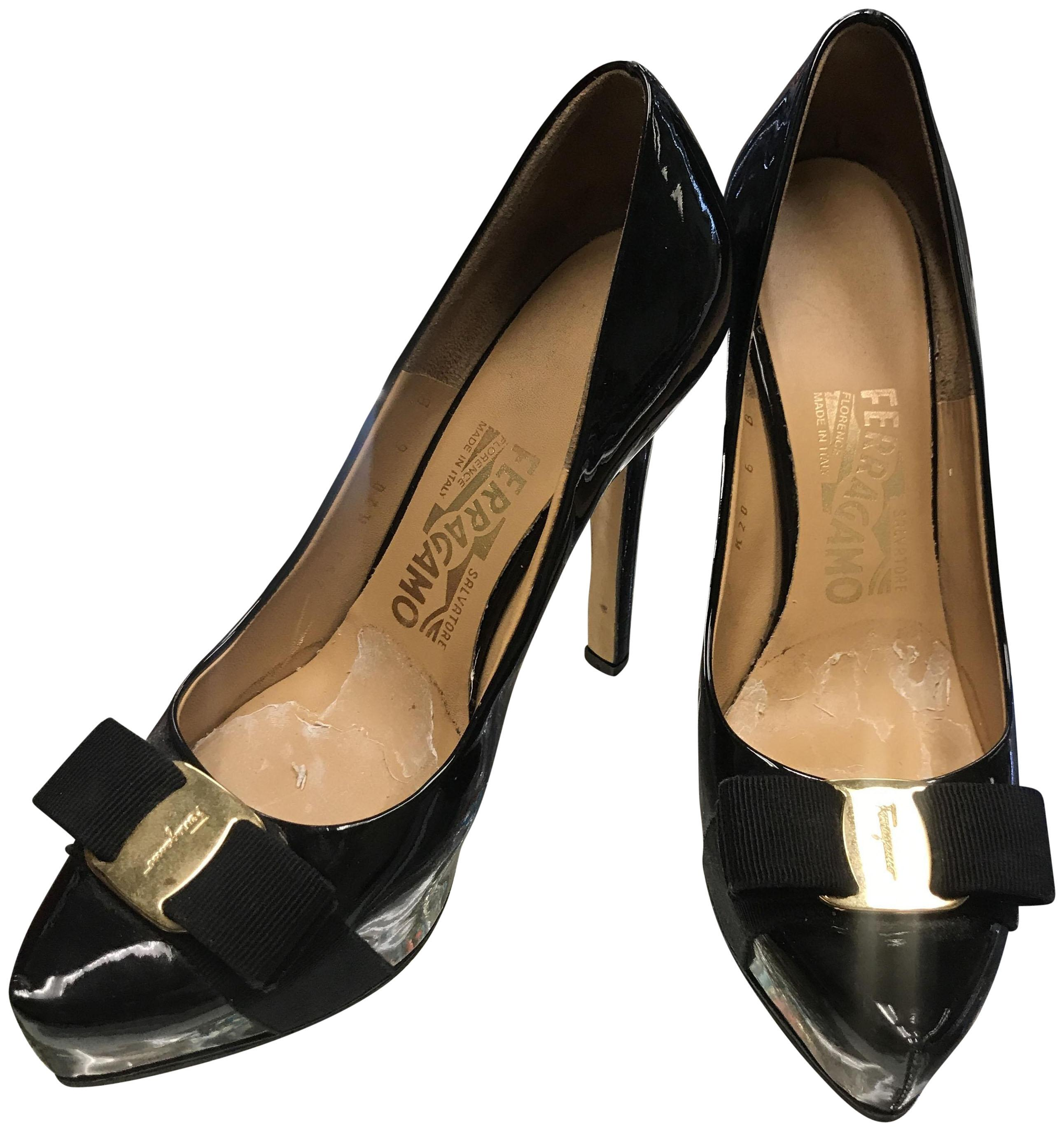 good selling cheap price Salvatore Ferragamo Patent Leather Bow-Accented Pumps discount with credit card EfuBODfsb