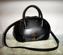 Salvatore Ferragamo Leather Luxury Satchel in Black