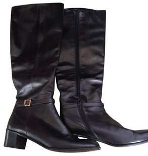 Salvatore Ferragamo Leather Made In Italy Black Boots