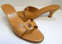 Salvatore Ferragamo B Tan Brown Sandals