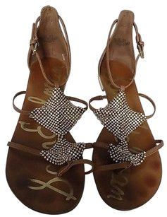 Sam Edelman Brown Silver And Gold Sandals