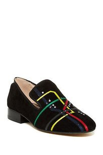 Sam Edelman Kell Color Embriodered Slippers black Flats
