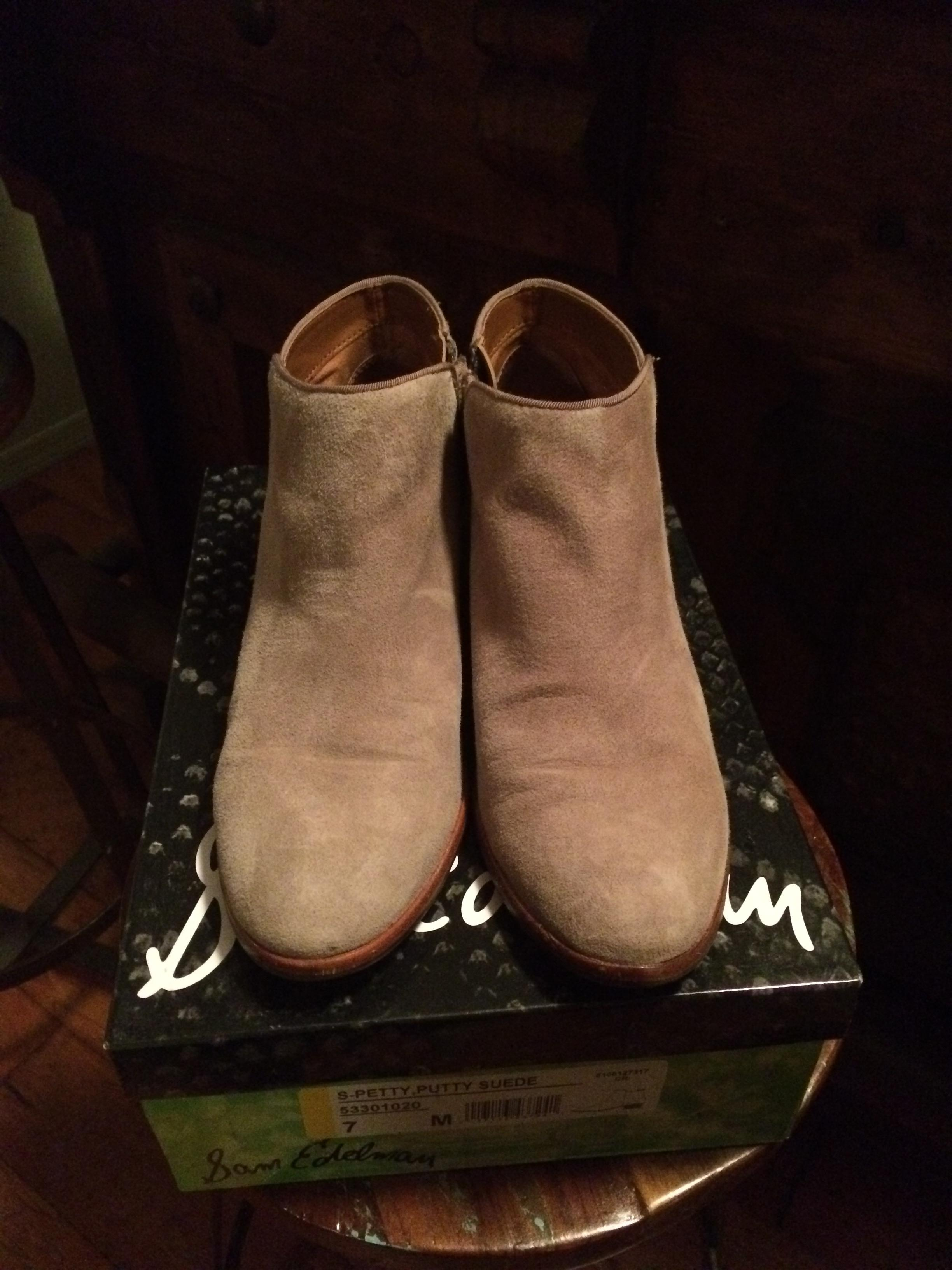1e02fd7cd0b7a ... Sam Edelman Taupe Petty Boots Booties Size US US US 7 Regular (M