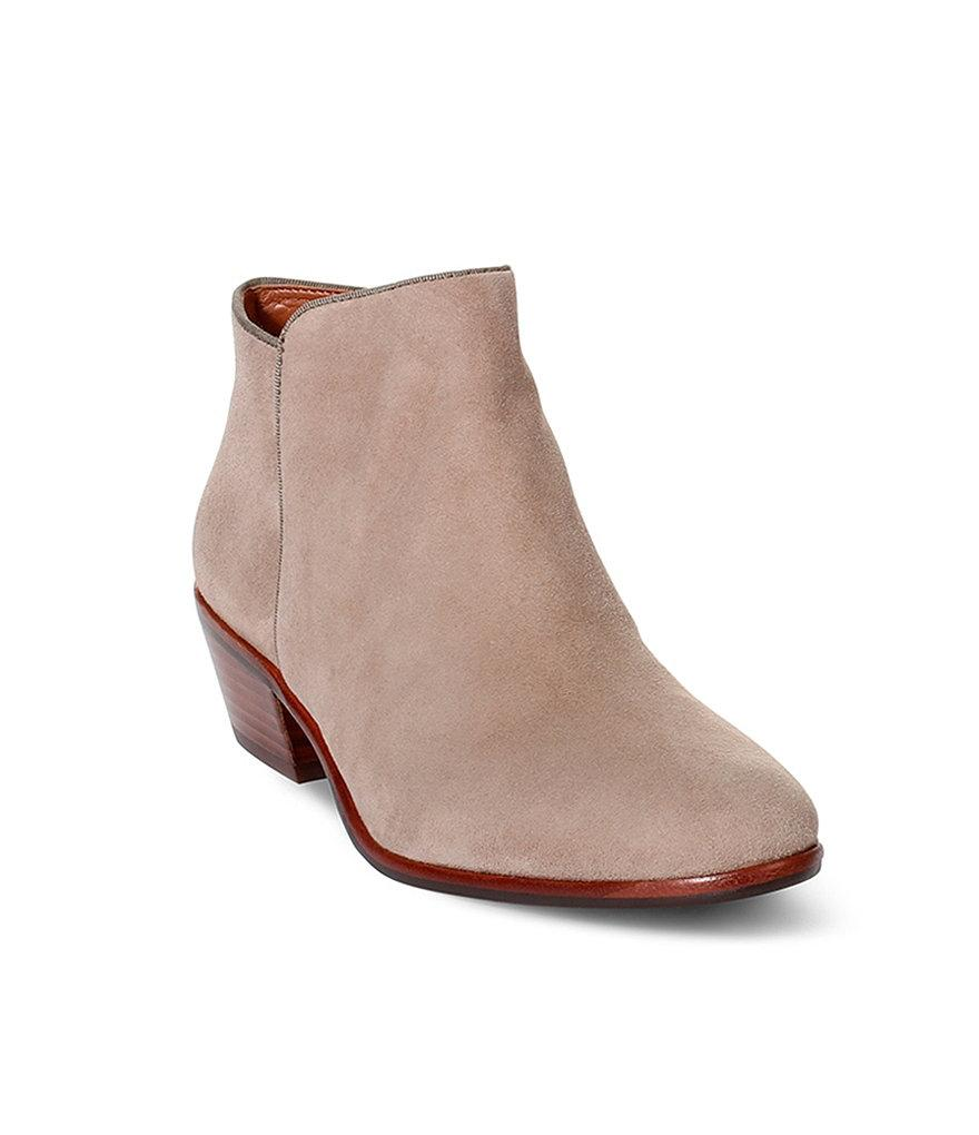 4c0d5f822878 Sam Edelman Edelman Edelman Taupe Suede Petty Boots Booties Size US 7.5  Regular (M