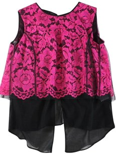 Sandro Back Hot Open Pink Ne Top