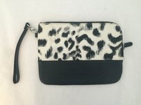 Sandro black and white Clutch