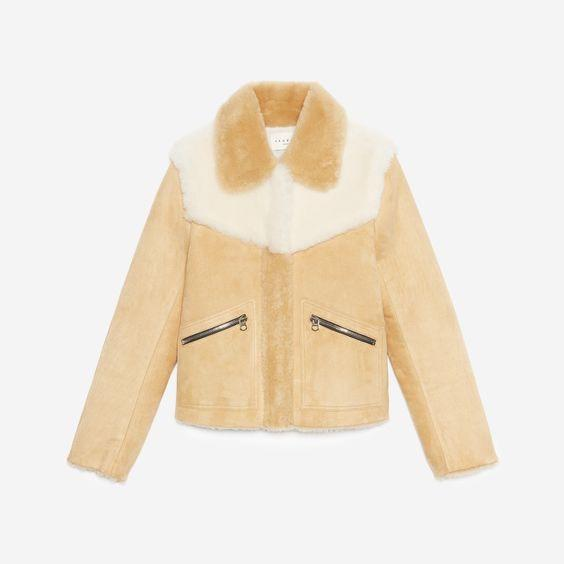 Sandro Shearling Jacket