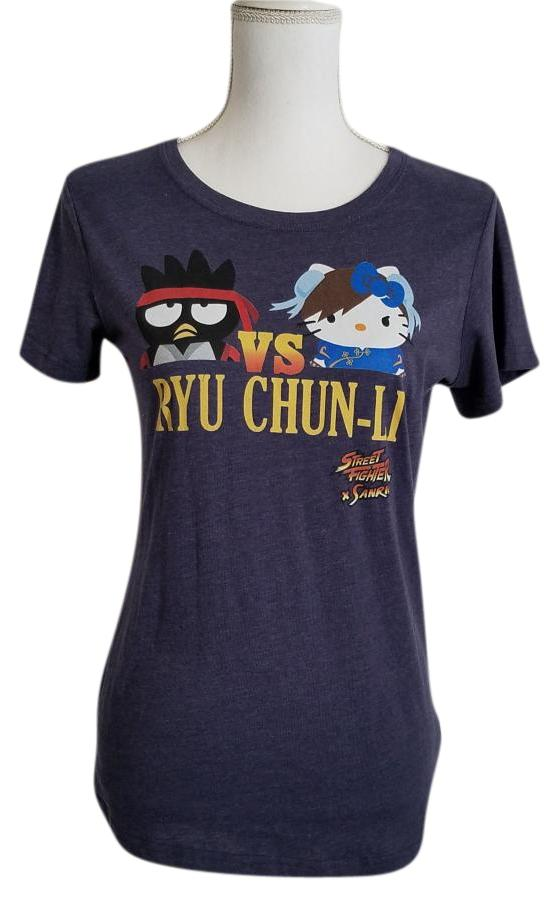 Sanrio X Street Fighter T Shirt Blue - 26% Off Retail low-cost
