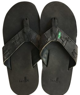 Sanuk Mens Leather Sandal9 Grey Sandals