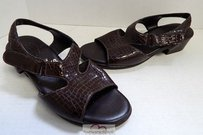Sasch Sas Tripad Usa Snake Brown Sandals