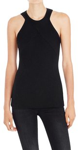 sass & bide Fitted Knit Blouse Top Black