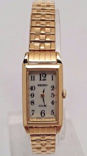 Seiko Seiko Sup230 Womens Core Solar Powered Japanese Quartz Gold Watch Cal. V116