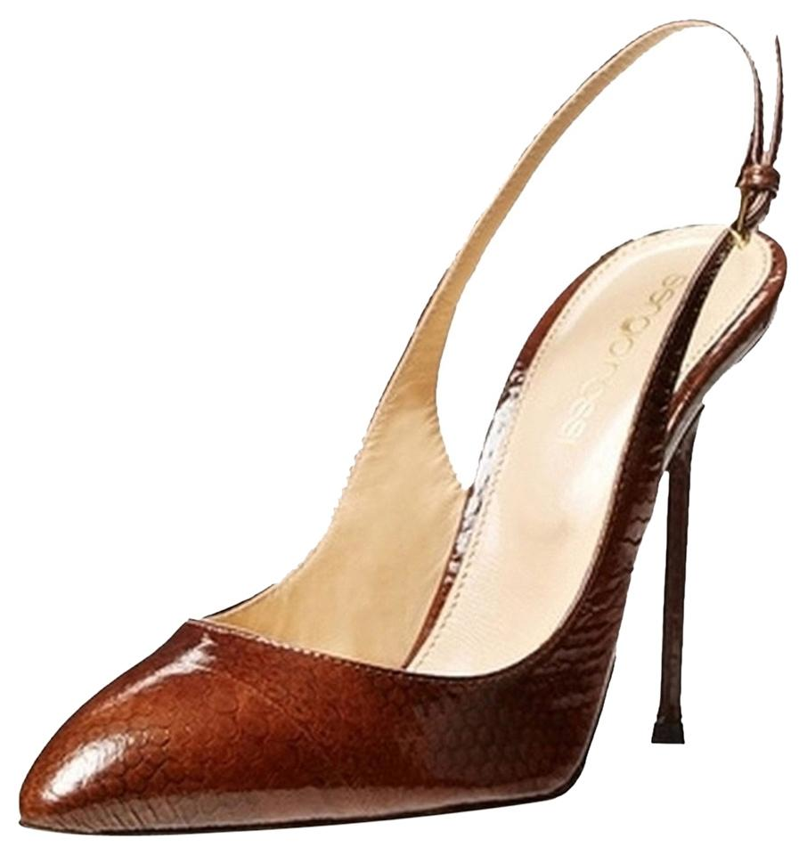 Sergio Rossi logo sling-back pumps sale official site LuyGDb