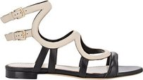 Sergio Rossi Beige / Black Sandals