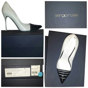 Sergio Rossi Pump White and Black Pumps
