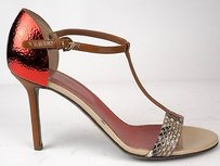 Sergio Rossi Patent Red / Brown Pumps
