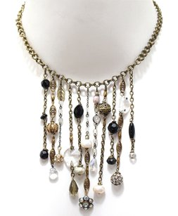 Setsuko Jewelry Baubles and Chain Statement Necklace
