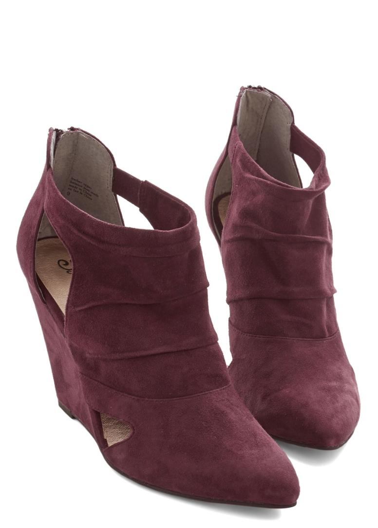 seychelles overjoyed wedge burgundy boots on tradesy