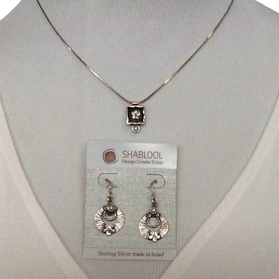 Shablool Silver Jewelry Design Sterling Pearls Israel Made Set Tradesy