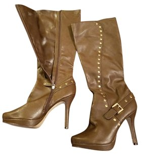 ShoeDazzle Chocolate Brown Boots