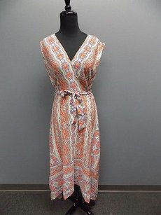 Orange Blue White Maxi Dress by Shoshanna
