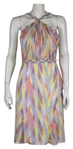 Shoshanna Womens Pink Blue Dress