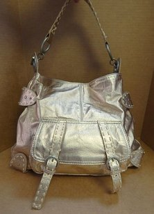 Sigrid Olsen Metallic Leather Slouchy Hobo Bag
