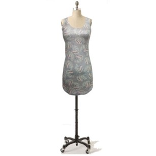 Silence + Noise short dress Gray Tunic Tank Top Urban Outfitters Green Sequin On Front on Tradesy