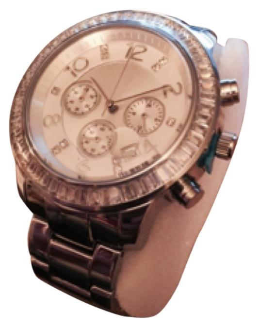 SILPADA BRAND NEW FINISHING TOUCH WATCH has plastic covering face BIG FACE WATCH!  Double deployment butterfly buckle, cz, stainless steal, water resistant REG $279.