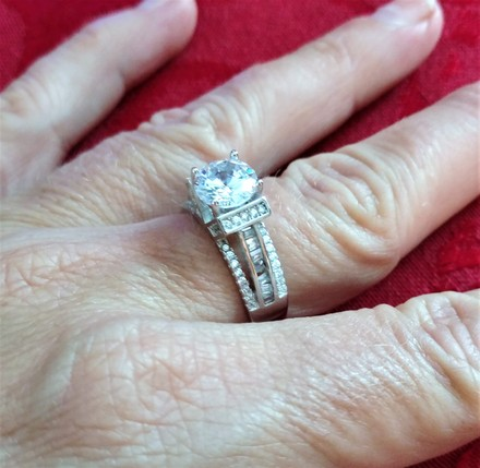 Silver .925 Sterling Cz 5mm #6954 Engagement Ring