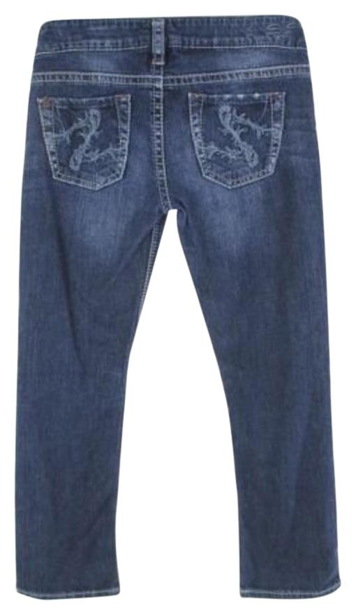 50%OFF Silver Jeans Buckle Santorini Dark Wash Distressed Ankle ...