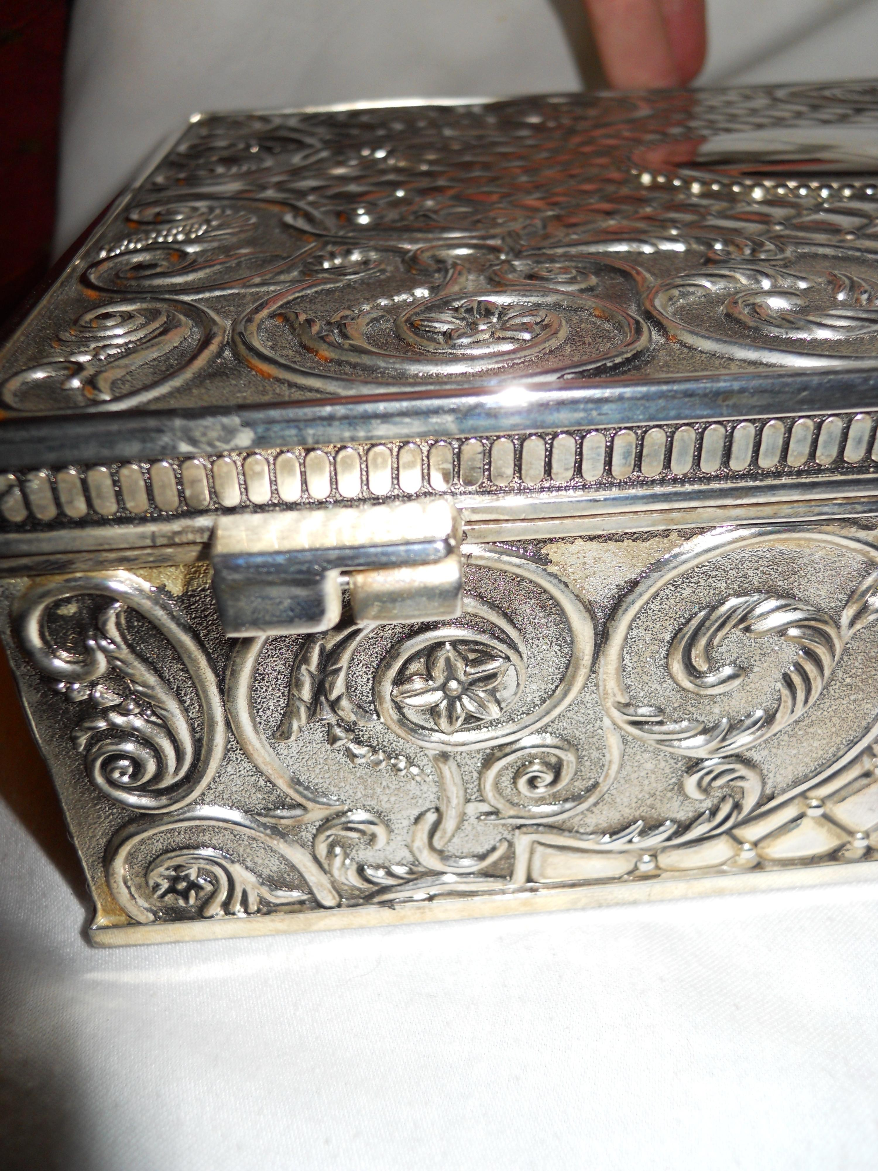 Silver Plated Vintage Jewelry Box Tradesy