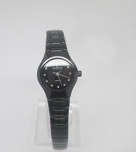 Skagen Denmark Skagen Black Ceramic Womens Watch 816xsbxc1 Links Removed