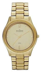 Skagen Denmark Skagen Watch, Women's Gold Ion-Plated Stainless Steel Bracelet 38mm SKW2094
