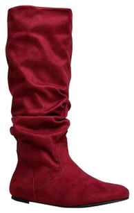 Soda Blu Red Boots