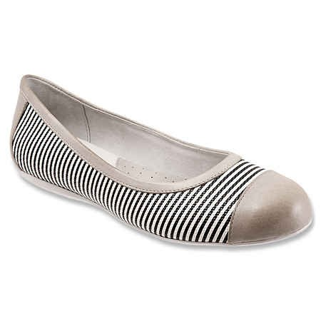 Womens Leather Flats Softwalk Black White Grey Napa Seersucker