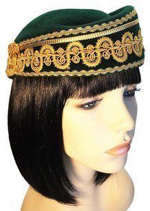SONNI SONNI Forest Green Felt with Militaria Gold Trim [ HeavenlyHats ]
