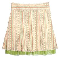 Soulmates Mini Skirt Multicolor (Beige, Green, Orange)