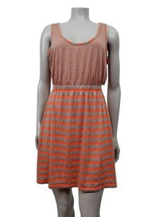 Sparkle & Fade Urban Outfitters Striped Tulip Back Knit Dress