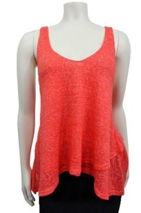 Sparkle & Fade Urban Outfitters Double Layer Sweater Knit Top coral