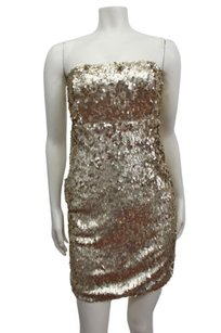 Sparkle & Fade Urban Outfitters Tinsel Sequin Strapless Dress