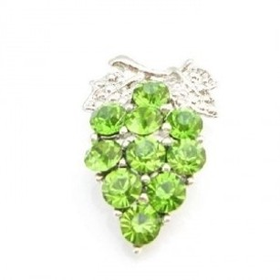 Green Sparkling Tree Peridot Crystals Tree Brooch/Pin