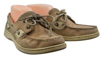 Sperry Top Sider Womens Boat Leather Casual Tan Flats