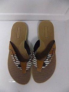 Sperry Top Sider Tan Blue White Sandals