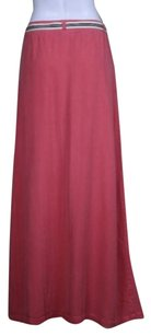 Splendid Womens Med Long Casual Belted Skirt Pink