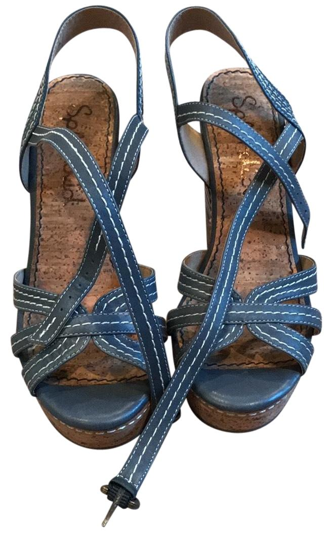 58e6925e96e4 Splendid Denim Kayla Wedge Wedge Wedge Sandals Size US 7.5 Regular ...