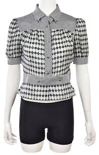 Sportmax Defile Womens Blue Top Multi-Color